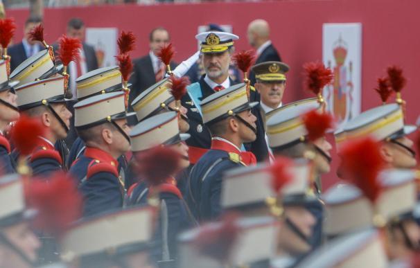 El rey Felipe VI en el desfile del 12 de octubre