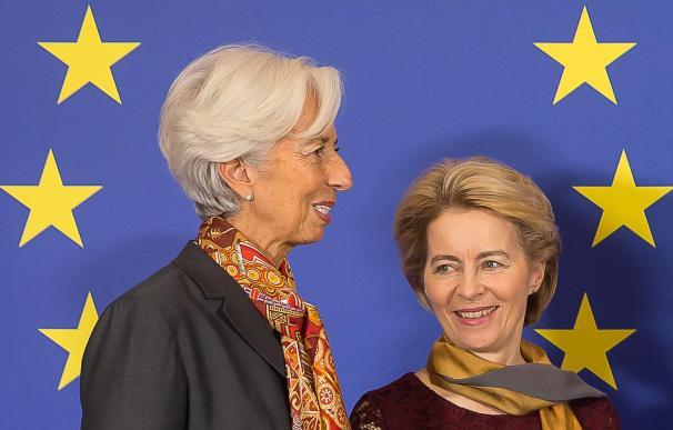Lagarde, Von der Leyen, Charles Michel y David Sassoli. 1/12/2019 ONLY FOR USE IN SPAIN