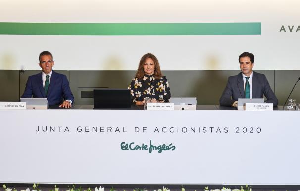 La presidenta de El Corte Inglés, Marta Álvarez, durante la Junta General de Accionistas de este 2020