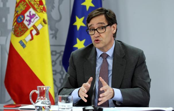 GRAF5909. MADRID, 28/07/2020.- El ministro de Sanidad, Salvador Illa, durante la rueda de prensa ofrecida este martes tras el Consejo de Ministros. EFE/Kiko Huesca