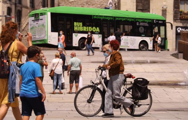 Uso de mascarillas obligatorias en Euskadi.