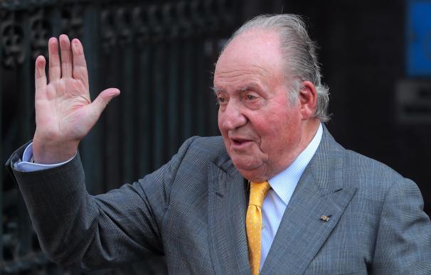Fotografía de archivo del 10/03/2018, del rey emérito Juan Carlos en Santiago (Chile).