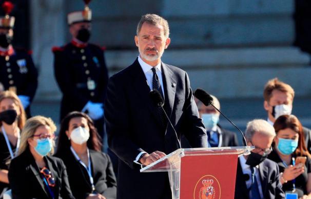 Felipe VI en el homenaje a las víctimas