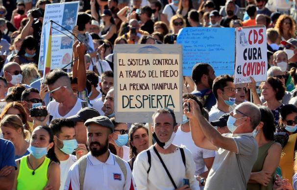 Madrid colón Manifestación mascarillas