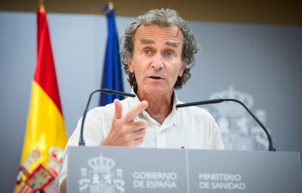 Fernando Simón durante la rueda de prensa