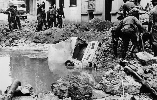Imagen de archivo sobre el atentado que mató al almirante Carrero Blanco en Madrid.