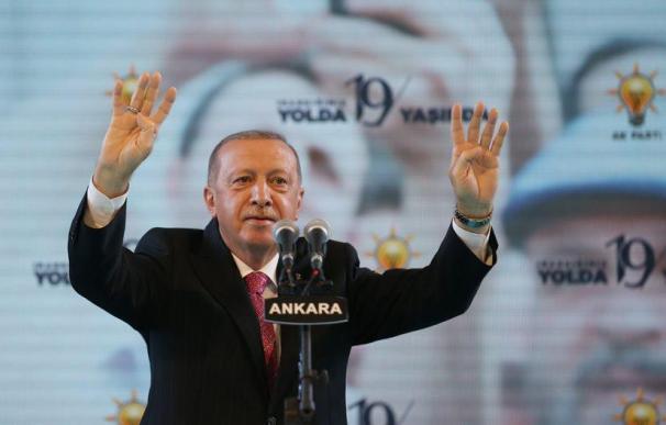 El presidente de Turquía, Recep Tayyip Erdogan, en un acto público.
