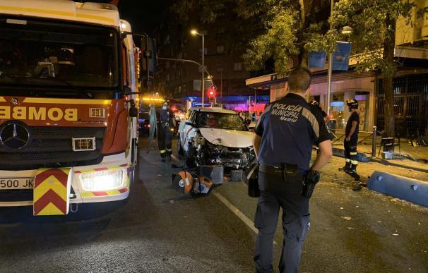 Imagen del atropello múltiple en Bravo Murillo en Madrid donde ha muerto una mujer.