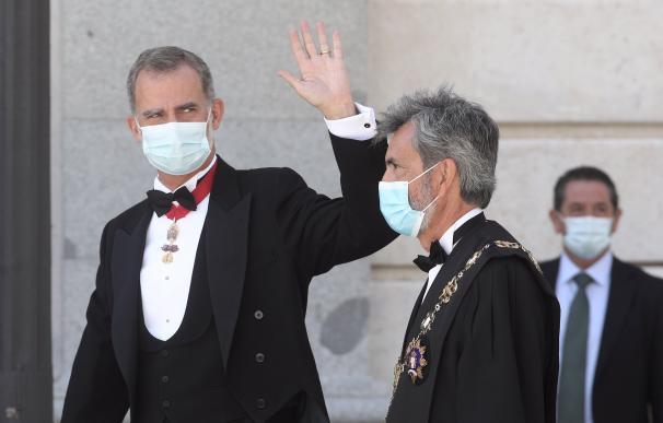 Rey Felipe VI con Carlos Lesmes, apertura año judicial