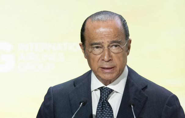 El presidente de IAG, Antonio Vázquez, en la junta general de accionistas de 2020.
