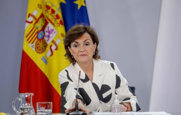 Carmen Calvo, consejo de Ministros