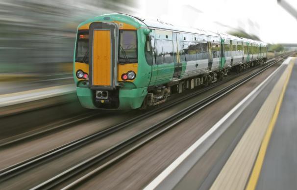 un tren.