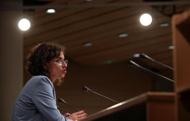 María Jesús Montero, en la rueda de prensa posterior al Consejo de Política Fiscal