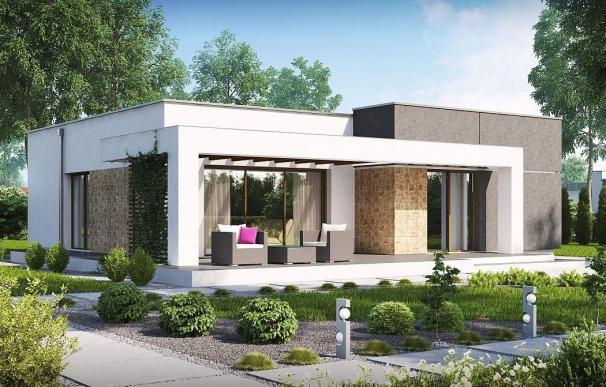 La casa prefabricada de 105 metros cuadrados de Norges HUS.