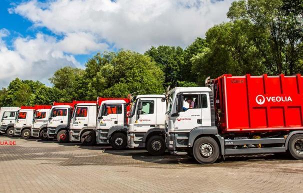 Vehículos de transporte de residuos de Veolia