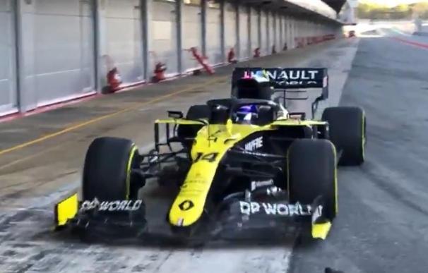 Fernando Alonso estrena su nuevo Renault en Montmeló RENAULT 13/10/2020