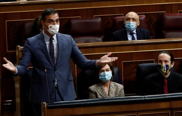 Pedro Sánchez Carmen Calvo Pablo Iglesias