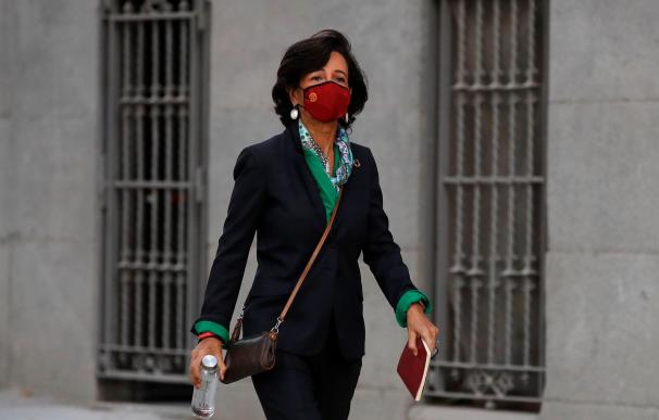 Ana Botín a su llegada a la Audiencia Nacional
