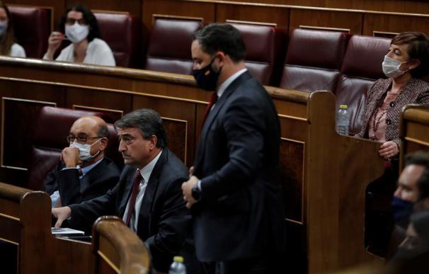 Santiago Abascal, durante la moción de censura