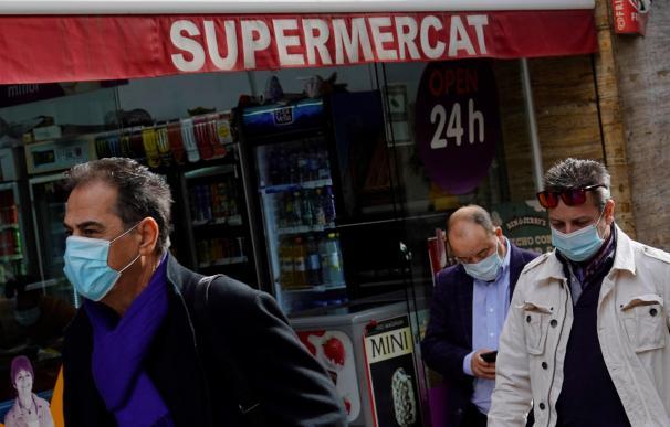 supermercado ventas 24 horas Cataluña coronavirus España mascarillas