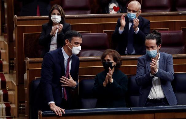 Pedro Sánchez Pablo Iglesias Congreso de los Diputados