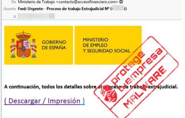 Mail falso del ministerio de Trabajo