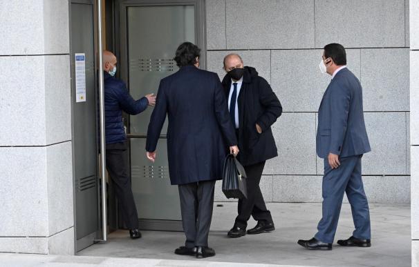 Jorge Fernández Díaz a su entrada a la Audiencia Nacional