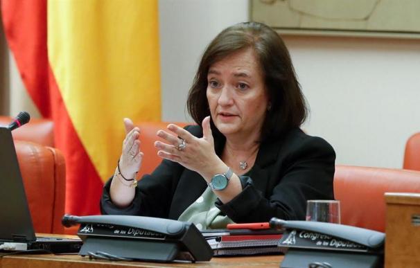 La presidenta de Airef, Cristina Herrero, en su comparecencia en la Comisión de Presupuestos
