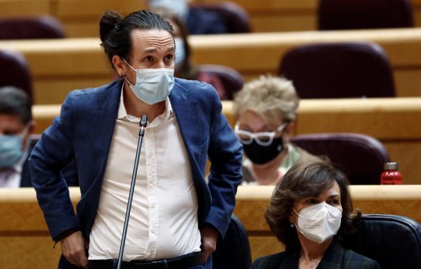 Pablo Iglesias Carmen Calvo Senado