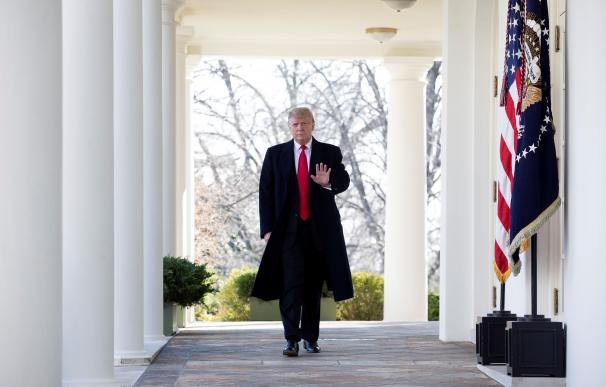 El presidente saliente de Estados Unidos, Donald Trump, en la Casa Blanca.
