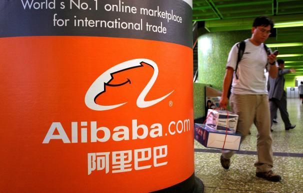 Un anuncio de Alibaba en Hong Kong