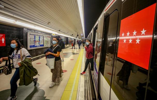 La ocupación del Metro de Madrid ha ido bajando también en las últimas semanas.