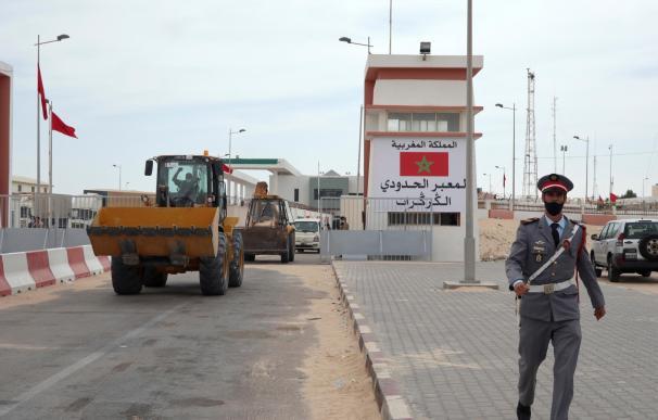 Imagen de la frontera entre Marruecos y Mauritania donde se ha desatado el conflicto saharahui.
