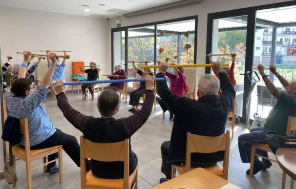 Los 60 ancianos de la residencia de San Jerónimo en Estella reciben una atención muy especial.
