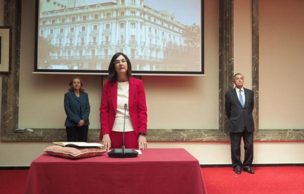 La presidenta de la CNMC, Cani Fernández, en su toma de posesión.