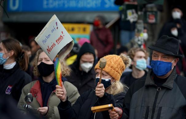Manifestación contra las restricciones por la Covid en Berlín