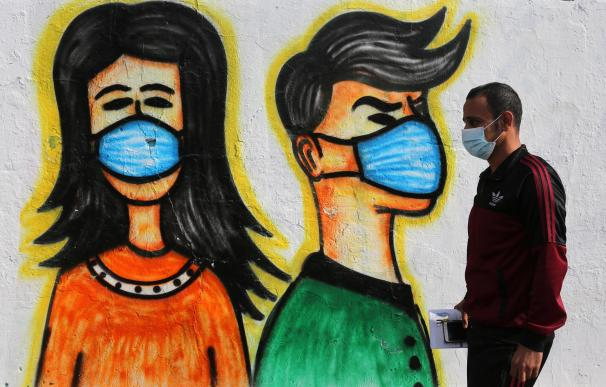 Coronavirus mascarilla mundo dibujo