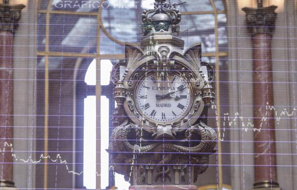 El reloj de la Bolsa de Madrid se acerca al cambio de ejercicio.