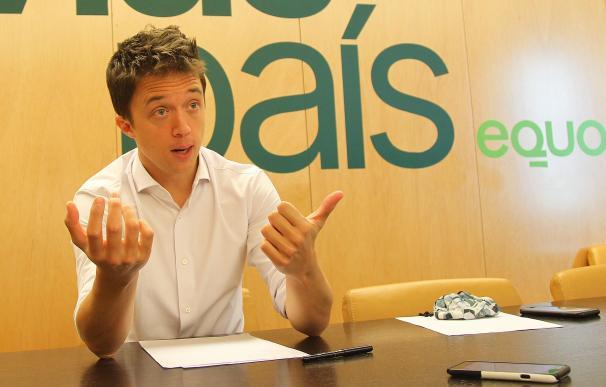 El portavoz de Más País-Equo, Íñigo Errejón, en su despacho del Congreso