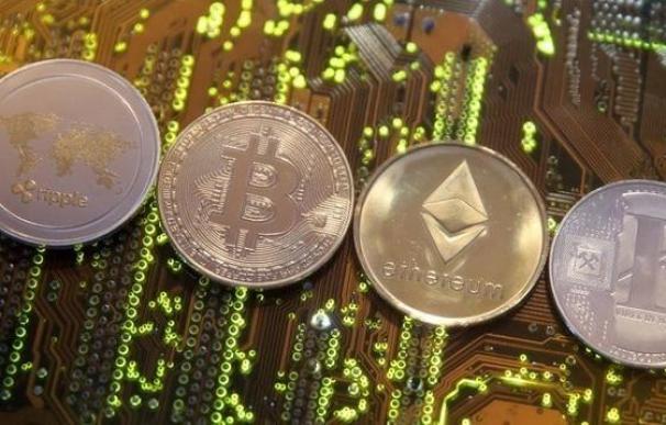 Imagen de la moneda virtual bitcoin.