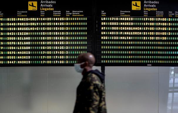 Inmigrante aeropuerto