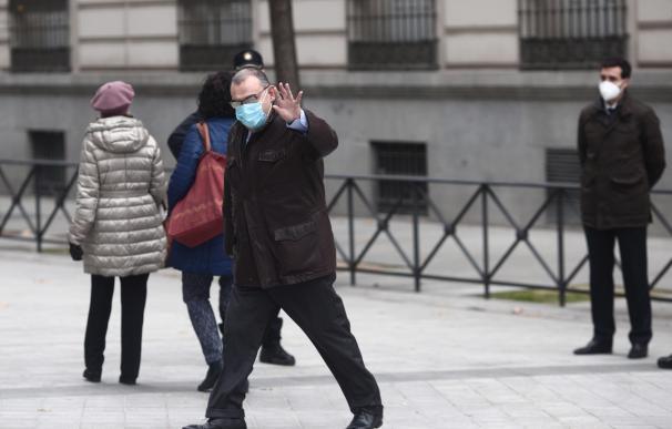 Enrique García Castaño a su llegada a la Audiencia Nacional, en Madrid (España), a 14 de diciembre de 2020. Castaño declara hoy en relación a la operación 'Kitchen' para aclarar si es el autor de uno de los mensajes que el exsecretario de Estado de Seguridad Francisco Martínez protocolizó ante notario y que están relacionados con la causa en la que se investiga el supuesto espionaje ilegal al extesorero del PP Luis Bárcenas.