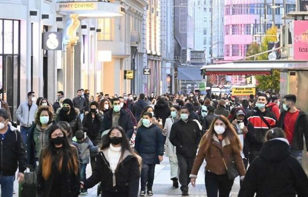 Madrid coronavirus paseo Gran Vía mascarillas