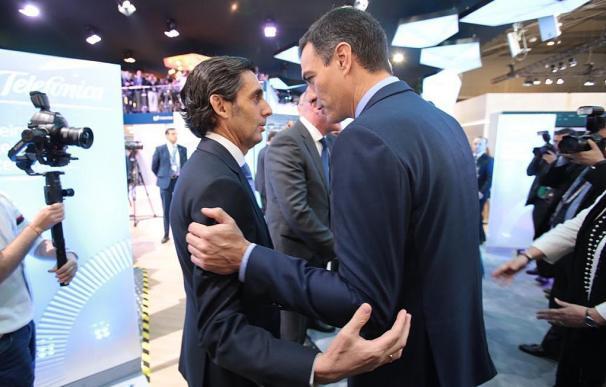 José María Álvarez-Pallete y Pedro Sánchez