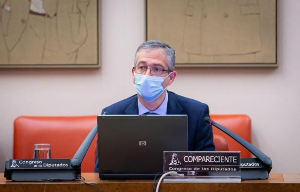 El gobernador del Banco de España, Pablo Hernández de Cos, comparece ante el Congreso en Comisión CONGRESO (Foto de ARCHIVO) 4/11/2020