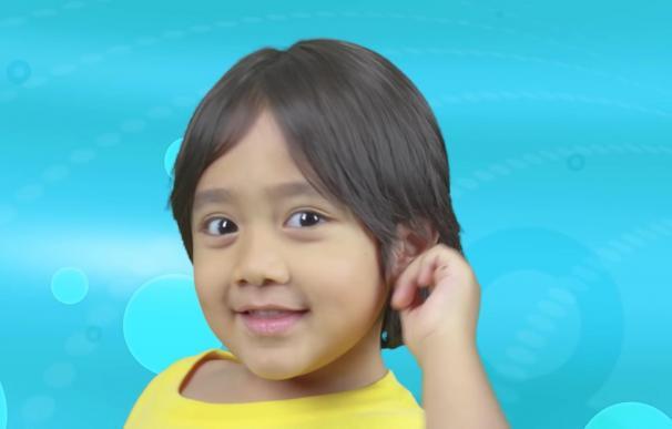 El niño youtuber de ocho años Ryan Kaji.