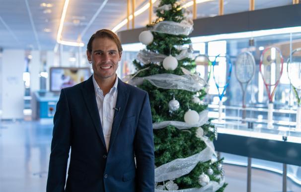 El tenista español Rafa Nadal desea una feliz Navidad desde su Rafa Nadal Academy by Movistar RAFA NADAL ACADEMY BY MOVISTAR 24/12/2020