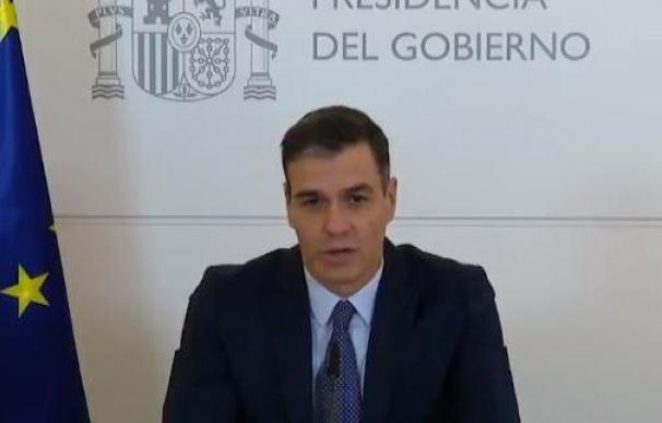 Pedro Sánchez en su mensaje a las tropas