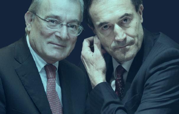 Manuel Azuaga y Manuel Menéndez, presidente y consejero delegado de la futura Unicaja.