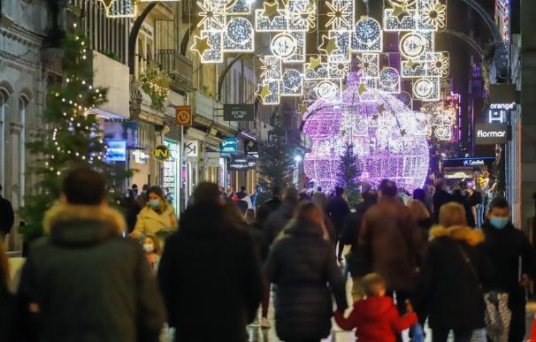 Calle Vigo coronavirus paseo Navidad compras comercio